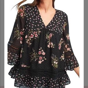 Maeve Tops - NWOT Maeve Steffy Bell Sleeve Floral Print Blouse